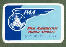 Vintage Collectible Airline luggage label Pan Am airlines #155